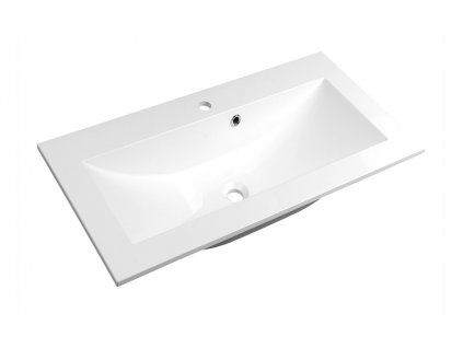 YUKON umyvadlo 70x45cm, litý mramor, bílá
