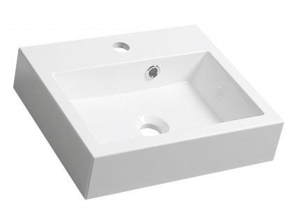ORINOKO umyvadlo 42x36cm, litý mramor, bílá