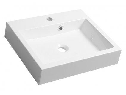 ORINOKO umyvadlo 50x42cm, litý mramor, bílá