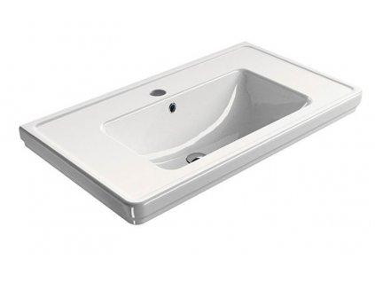 CLASSIC keramické umyvadlo 90x50 cm, bílá ExtraGlaze
