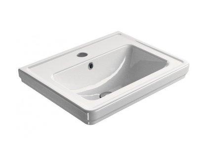 CLASSIC keramické umyvadlo 60x46 cm, bílá ExtraGlaze
