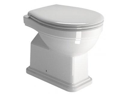 CLASSIC WC mísa stojící, 37x54 cm, zadní odpad, bílá ExtraGlaze
