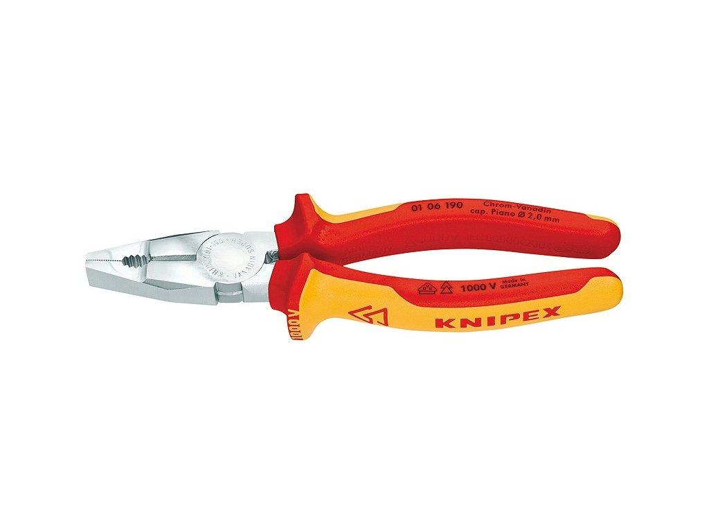 Knipex Kombinované kleště Chrom-vanadium 190  + VOUCHER - slevový kupón