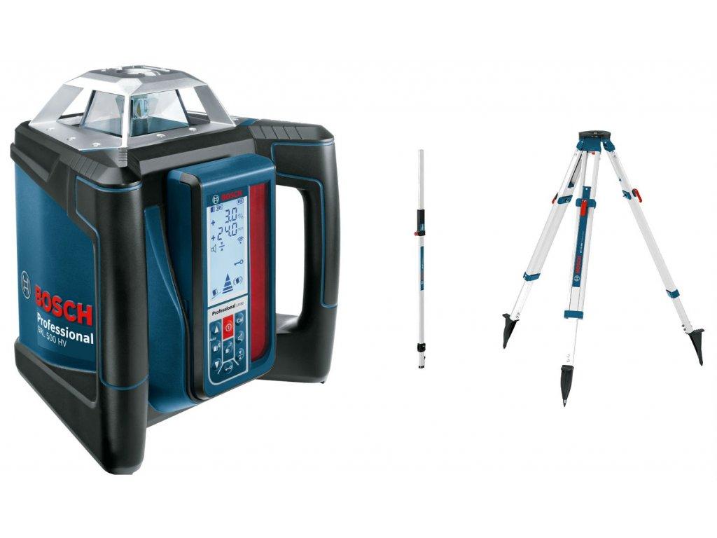 BOSCH GRL 500 HV Professional Rotační laser, LR 50, BT 170 HD, GR 240  + Rozšíření záruky na 3 roky zdarma.