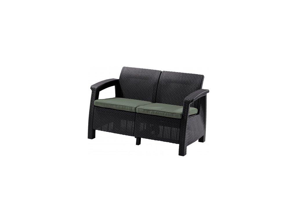 CORFU LOVE SEAT sedačka 2-místná (Brown - Warm taupe)