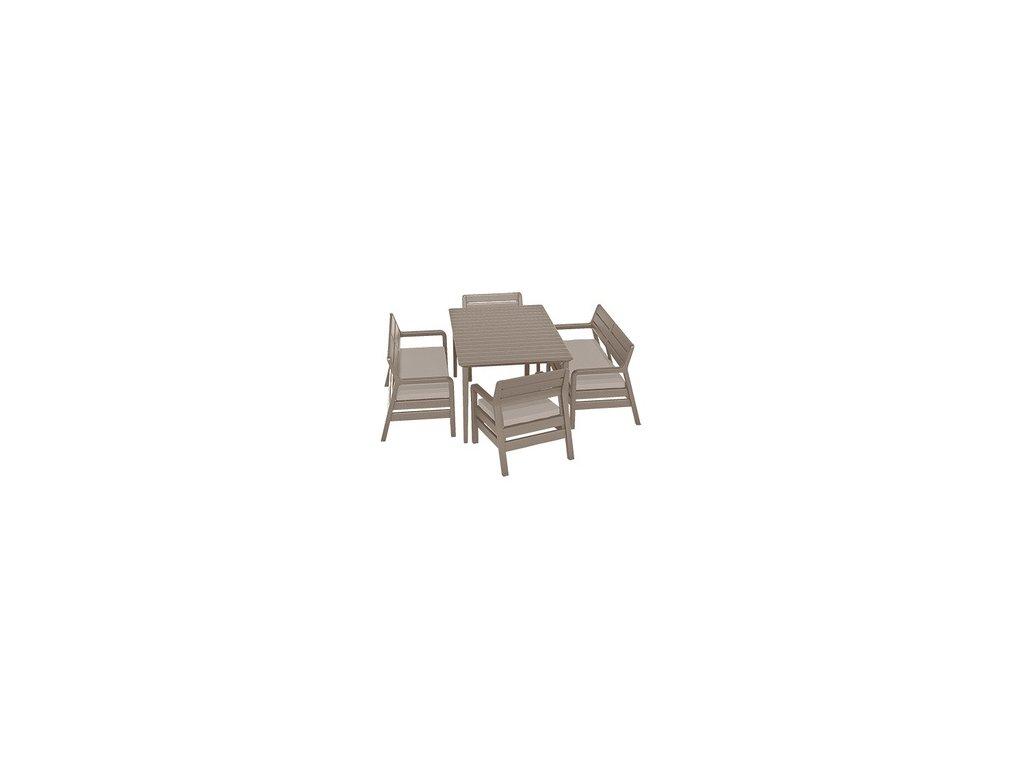 Delano set + stůl LIMA 160 - Graphite / coolgrey