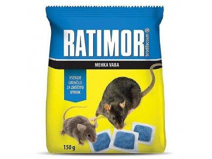 Návnady RATIMOR® brodifacoum fresh návnada, 150 g, měkká