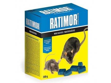 Návnady RATIMOR® brodifacoum wax blocks, 300 g, parafínové kostky