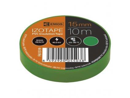 Izolačná páska PVC 15mm/10m zelená