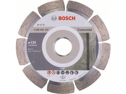 BOSCH diamantovy delici kotouc 125 mm STANDARD for CONCRETE 2608602197