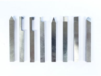 HSS vybroušené soustružnické nože 8 mm - sada 8 ks