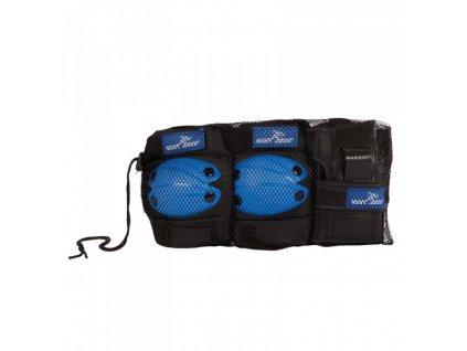 Chrániče pro děti na sportování, velikost M, modré, 6-dílná sada