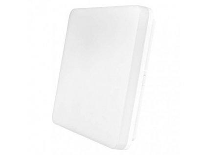 LED prisadené svietidlo, štvorcové biele 24W teplá b., IP54