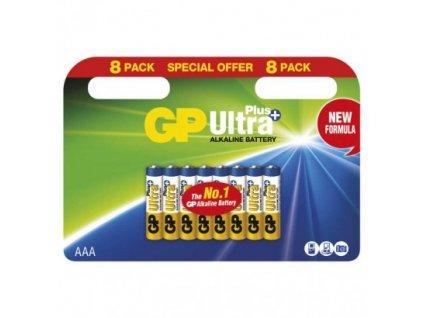 GP alkalická batéria ULTRA PLUS AAA (LR03) 8BL