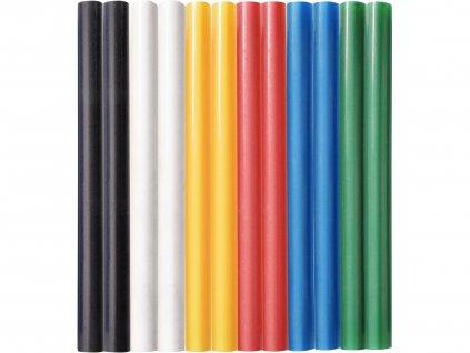 Tyčinky tavné farebné 12ks, pr.7,2mm, dĺžka 100mm, EXTOL CRAFT