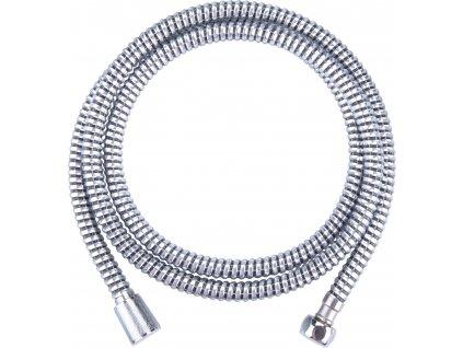 hadice sprchová, černo/stříbrná, 180cm, PVC, FRESHHH