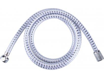 hadice sprchová, stříbrný pruh, 180cm, PVC, VIKING