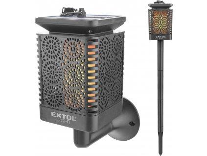 "Pochodeň LED solárna, 12x LED, efekt ""plameň"", EXTOL LIGHT"