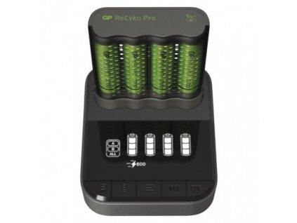 GP nabíjačka batérií Pro P461 + 4AA ReCyko 2700 + DOCK