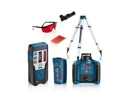 BOSCH GRL 250 HV Professional rotační laser, akční set + LR1 + RC1 + BT170 + GR240 + Držák přijímače