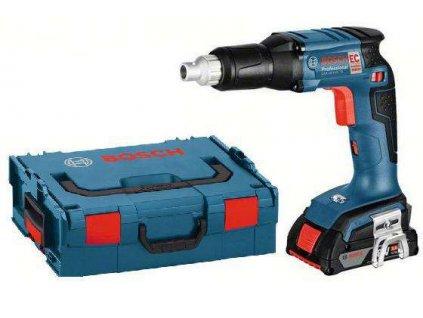 Bosch GSR 18 V-EC TE Professional + L-Boxx, 2x 18V / 2.0Ah, bezuhlíkový aku šroubovák na sádrokarton