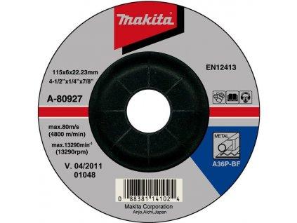 Brusný koruce na kov Makita A-80927  + VOUCHER - slevový kupón