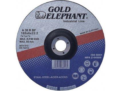 Kotúč Gold Elephant 27A T27 180x6,0x22,2 mm, brúsny na kov