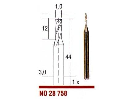 PROXXON Tvrdokovové fréza 1,0 mm 28758