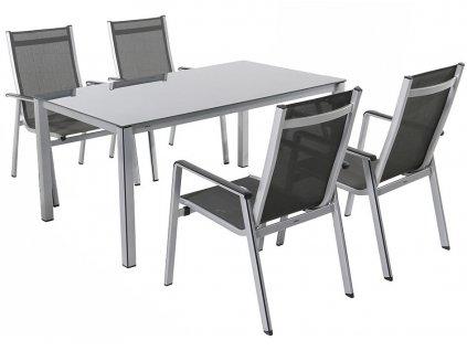 Royal Garden Elements 4+ sestava nábytku (1x stůl Elements Creatop-Lite + 4x stoh. židle Elements)