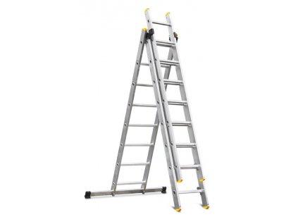 Rebrík Strend Pro DP 3x08, Alu, EN 131 max. 4.97 m, BASIC