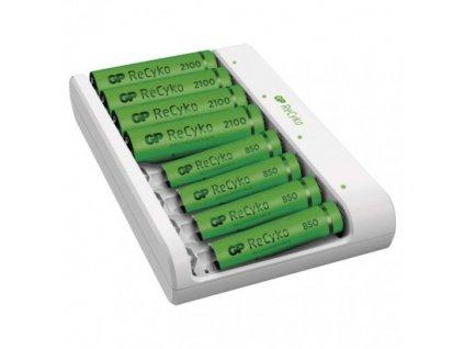 GP nabíjačka batérií Eco E811 + 4× AA 2100 + 4× AAA