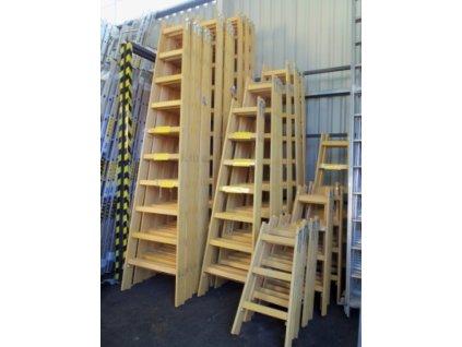 ALVE 2807 Dřevěný žebřík dvoudílný / štafle /  SERVIS EXCLUSIVE