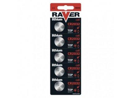 Lítiová gombíková batéria RAVER CR2032