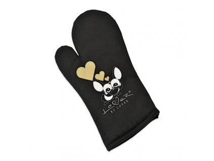 BergHOFF kuchyňské rukavice LOVER černá
