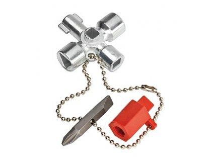 Knipex Klíč na rozvodné skříně Pro běžné skříně a systémy zavírání 76