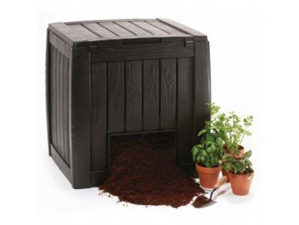 DECO composter 340L s podstavcem tmavě-hnědý