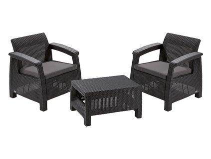 CORFU WEEKEND set nábytku graphite - coolgrey  + VOUCHER - slevový kupón