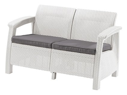 CORFU LOVE SEAT sedačka 2-místná (White- coolgrey)