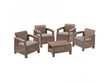 CORFU QUATTRO SET - set nábytku (Cappuccino - Sand)