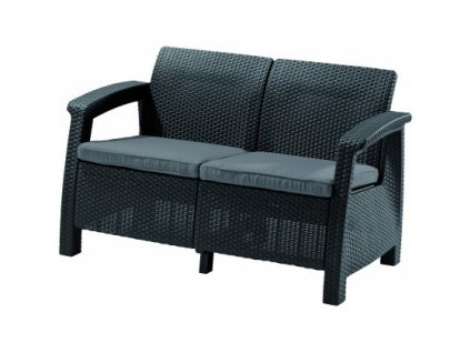 CORFU LOVE SEAT sedačka 2-místná (Graphite -Coolgrey)