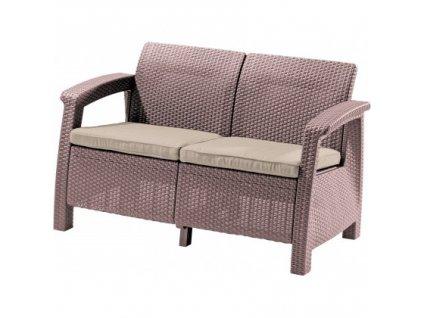 CORFU LOVE SEAT sedačka 2-místná (Cappuccino - Sand)
