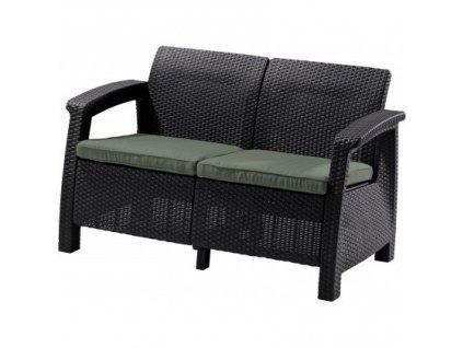 CORFU LOVE SEAT sedačka 2-místná (Brown - Warm taupe)  + VOUCHER - slevový kupón