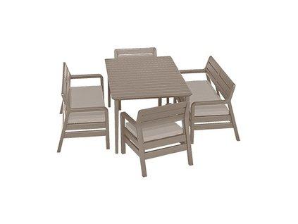 Delano set + stůl LIMA 160 - Graphite / coolgrey  + VOUCHER - slevový kupón