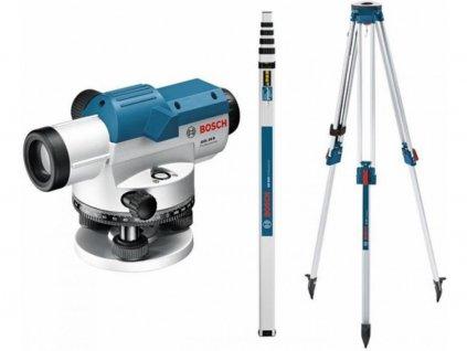 BOSCH GOL 26 D Professional Optický nivelační přístroj + BT160 Stativ + GR 500 Nivelační lať  + Rozšírenie záruky na 3 roky zadarmo.
