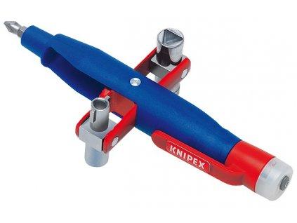 KNIPEX Kolíkový klíč na rozvodné skříně se zkoušecím zařízením 155  SERVIS EXCLUSIVE