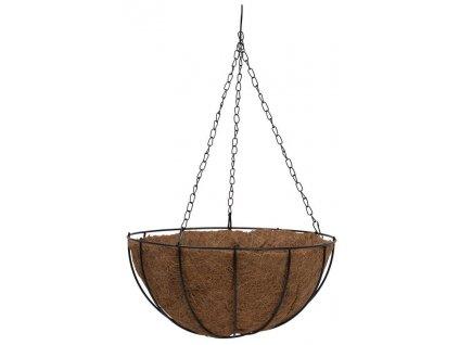 Květináč LC-CocoH-22 • ocel / kokos, závěsný, 25x25x12 cm