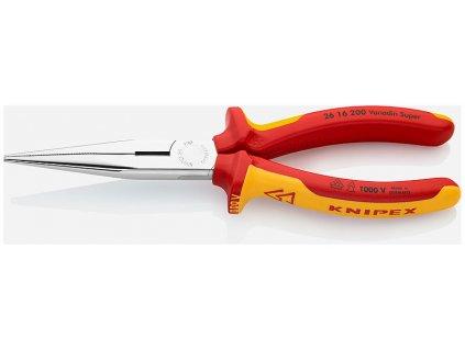 KNIPEX  Půlkulaté kleště s břity (úzké ploché kleště) 200  SERVIS EXCLUSIVE