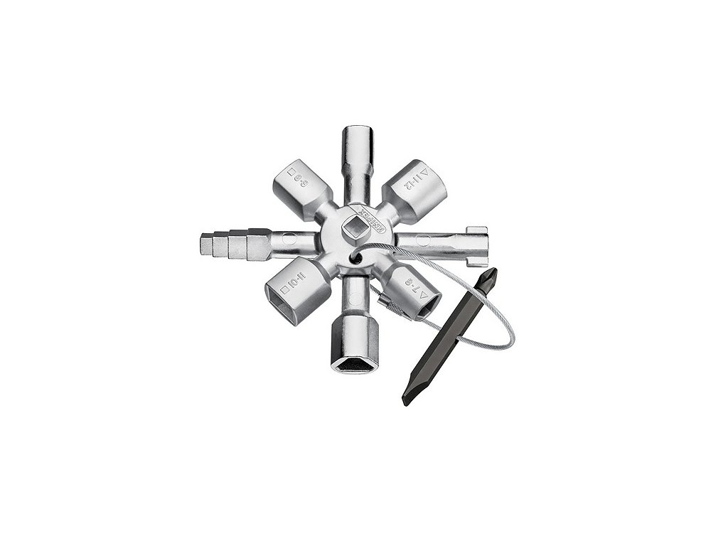 KNIPEX TwinKey® kľúč na rozvodné skrine 00 11 01  + VOUCHER - zľavový kupón
