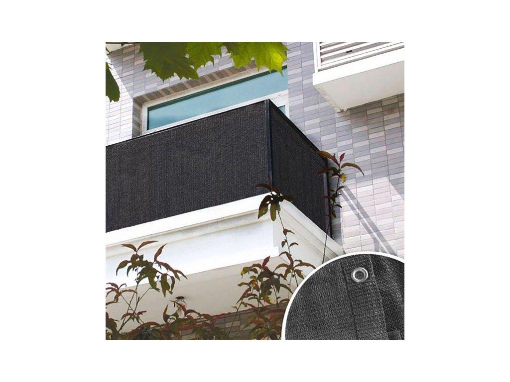 DEMA Balkónová zástena 90x600 cm, antracit