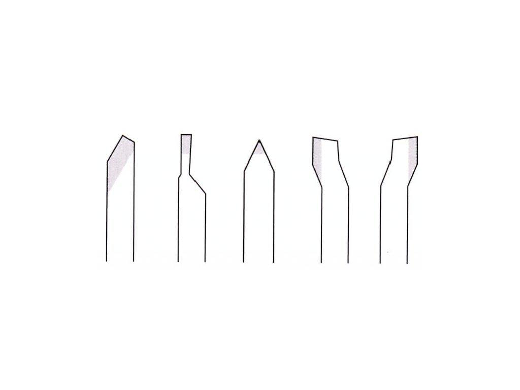 PROXXON Sústružnícke nože z kobaltovej HSS ocele 10x10x80mm - 5 dielna sada .(24550)  SERVIS EXCLUSIVE